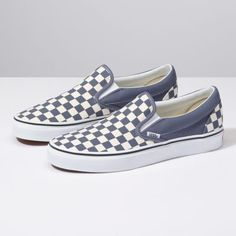 eee15be04d12 The Checkerboard Slip-On features sturdy low profile slip-on canvas uppers  made with. Vans