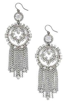 Cristabelle Circle Fringe Drop Earrings
