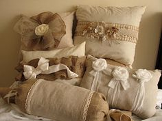 Vintage flair pillows by Dusty McRae