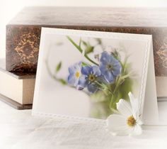 Forget me not photo blank greeting note