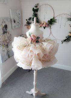 Little Girl Gowns, Gowns For Girls, Little Girl Dresses, Flower Girl Dresses, Flower Girls, Baby Girl Birthday Dress, Birthday Dresses, Baby Dress, Cherry Blossom Dress