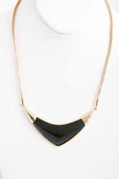 Black Boomerang Necklace Set