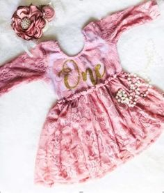 **NEW** Kryssi Kouture First Birthday Dusty Rose Skirted Romper with Rose Gold One - Ruffles Baby Girl First Birthday, First Birthday Outfits, Birthday Shirts, Baby Fall Fashion, Fall Fashion 2016, Trendy Outfits, Girl Outfits, Business Baby, Romper With Skirt