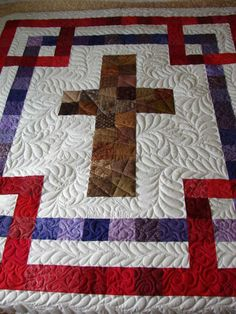 """Cross Quilt with color meanings - link to tutorial if you click the """"cross quilt"""" tag at the bottom"""