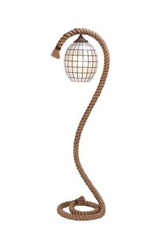 Nautical Floor Lamps: Nautical Rope Floor Lamp - Coastal Living Decor,Lighting