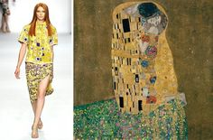 Gustav Klimt is one of my favorite artists, with his sensual yet ethereal gold-laden paintings. It's no revelation that designers often draw inspiration from artists, but these past few seasons have...