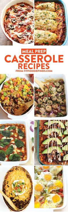 Check out some of Fit Foodie Finds' best meal prep casserole recipes! They're all made in under 60 minutes and packed with whole grains, veggies, and lean protein!