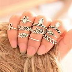 Anel Midi Finger Ring Set Fashion Punk Gold Silver Knuckle Rings for Women Female Boho Jewelry Vintage Bague Femme