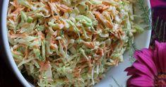 Tässä on helppo ja hyvä kesägrillausten kumppani: cole slaw eli kaalisalaatti amerikkalaisittain. Viikonlopun grillipippaloissa raikas, meh... Cole Slow, Vegetable Sides, Food Inspiration, Cabbage, Salads, Food And Drink, Pasta, Baking, Vegetables