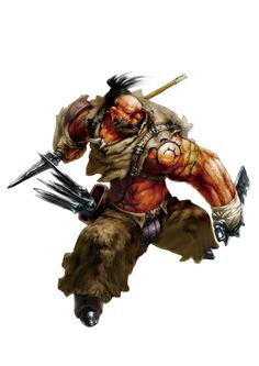 *Sirrak Togo, half red orc, barbarian shaman.