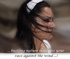 ... bustling nature indicates your race against the wind ...!
