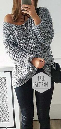ideas knitting patterns free sweater jumpers crochet cardigan knitting crochet the home girl sweater crochet sweater pattern Easy Knitting, Knitting Patterns Free, Free Crochet Sweater Patterns, Sewing Patterns, Crochet Sweaters, Diy Knitting Sweater, Knit Sweater Patterns, Crochet Jumpers, Crochet Pullover Pattern