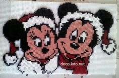 Mickey & Minnie Christmas hama beads by decokdonat