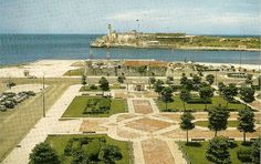 Postcard: View of Morro Castle and the Punta taken from the Hotel Packard, Prado and Carcel Sts, Havana/La Habana, Cuba.