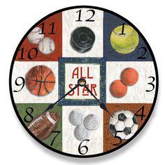 "12"" All Star Sports Vanity Clock"