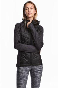 Watowana kurtka outdoorowa - Czarny - ONA | H&M PL