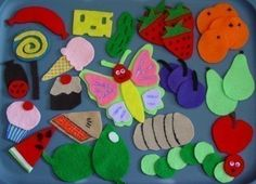 """""""Very Hungry Caterpillar"""" flannel board pieces"""