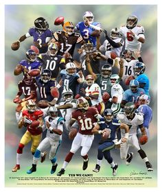 Yes We Can  Black NFL Quaterbacks by Wishum Gregory Poster Prints ebd2c688a