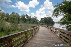 Run the 5.15 mile, paved PATH Foundation trail at Panola Mountain State Park to this boardwalk over Alexander Lake.