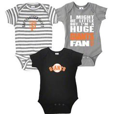 San Francisco Giants Infant Baby Rib Creeper 3-Pack