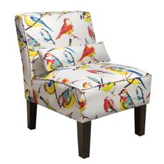 Birdwatcher Fabric Armless Chair