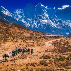 Just another day in the Everest Region of Nepal. If hiking is on your bucket list then the Everest Base Camp Trek is one of the classics | The Planet D: Adventure Travel Blog