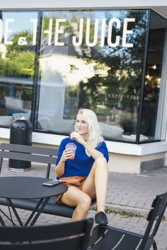 Tine Monsen in WILD WOOL Cashmere Open Back Sweater in Yves Klein Blue Yves Klein Blue, Cashmere, Punk, Wool, Sweaters, Style, Fashion, Swag, Moda