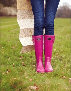 Womens Glossy Rain Boots in pink from Joules