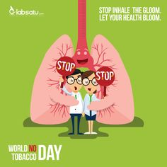 STOP inhale the gloom, LET your health bloom! #LabSatu #WorldNoTobaccoDay #HTTS2016