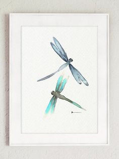 Dragonfly Watercolor Painting Dragonflies by ColorWatercolor #dragonflies #watercolor #painting