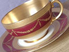 RARE Antique 1890's Coalport gold tea cup and by ShoponSherman