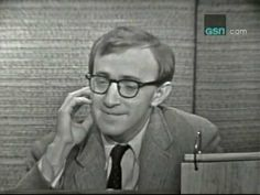 """Today's Mystery Guest on """"What's My Line?"""" is someone who today wouldn't ever dream of being on a game show, let alone do most interviews. It's Woody Allen -- and, regardless of he'd react today, back then, he clearly was having a joyous time. -- RJE"""