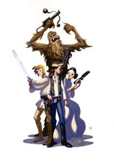 Star Wars by Nathan Stapley #starwars #fanart
