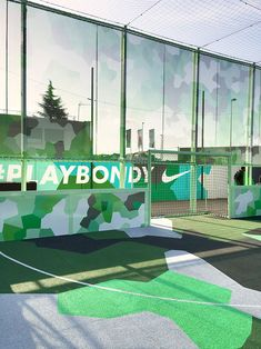 d91ac6105 laisné roussel and midori hasuike renovate football pitch for NIKE