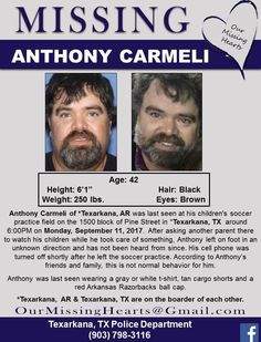 Find Missing Anthony Carmeli!