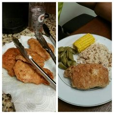 Fried pork chops... First time frying anything!