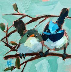 Wrens de hadas Pintura | moulton angela de pintura al día