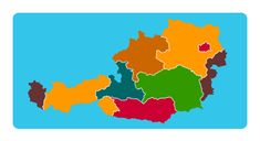 Map game to learn the 9 states (Bundesländer) of Austria. World Geography Games, Map Games, Online Games, Austria, Diagram, Europe, Play, Education, Learning