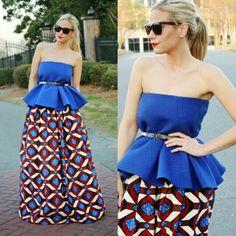 African print maxi skirt by Melange Mode
