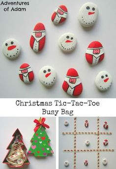 Tic-Tac-Toe, Naughts and Crosses, Xs and Os, Three In A Row - so many alternative names! I created our own DIY Christmas Tic-Tac-Toe to introduce the game to Adam. Diy Gift Christmas, All Things Christmas, Kids Christmas, Handmade Christmas, Father Christmas, Primitive Christmas, Retro Christmas, Country Christmas, Christmas Christmas