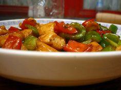 Pollo con verduras chino