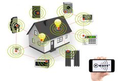 Learn everything you need to know about home automation technology with the best. - Home Technology Ideas Diy Home Security, Home Security Camera Systems, Security Cameras For Home, Home Design, Interior Design, Z Wave Home Automation, Smart Home Technology, Home Surveillance, Design Competitions