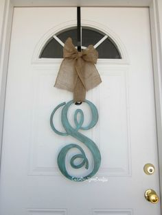 18 inch Wooden Single Letter Monogram Door by CarolinaMoonCrafts