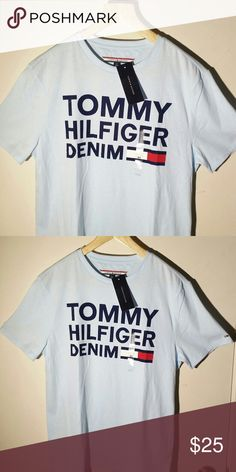 """TOMMY HILFIGER DENIM SPELLOUT LOGO TSHIRT S 