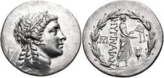 Tetradrachm; Apollo of Grynion. Aeolis, Myrina.  Ancient Greek coins - Coins of Greece, Macedonia, Thrace - Edgar L. Owen Galleries