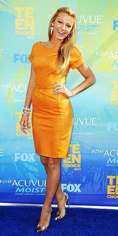 Blake Lively 2011 Teen Choice Awards #celebrities #celebrityfashion #redcarpet