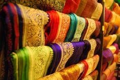 Traditional Indian Silk, Pondicherry India  #ConflictofPinterest