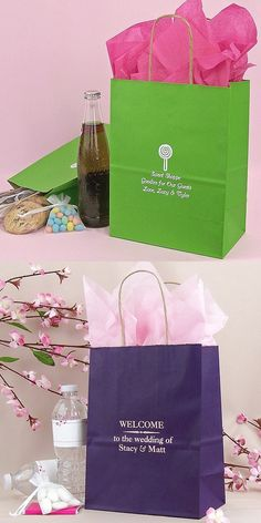 8 x 18 Kraft paper gift bags are the ideal size for DIY wedding gifts for out of town and overnight guests. This size gift bag will comfortably hold several bottles of water Travel Wedding Gifts, Diy Wedding Gifts, Wedding Gift Bags, Wedding Welcome Bags, Wedding Prep, Our Wedding, Wedding Planning, Dream Wedding, Wedding Ideas