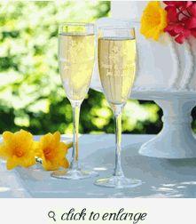 Wedding Toasting Glasses - Wedding Toasting Flutes - Beach Wedding Toasting Flutes
