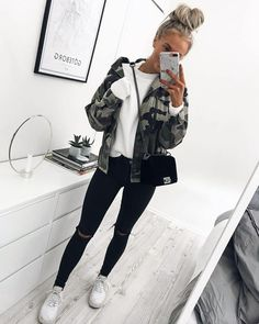 top camouflage jackets this 2017... // click to shop this look. #fashion #jacket #winter #ad